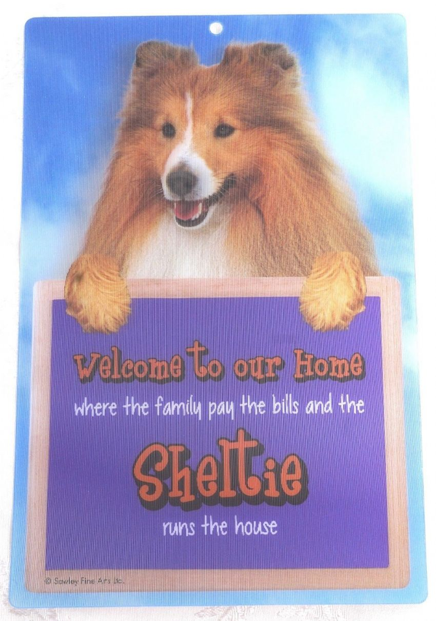 SHELTIE 3D WELCOME SIGN STUNNING EYE CATCHING 23CM X 15CM DURABLE DOG SIGN